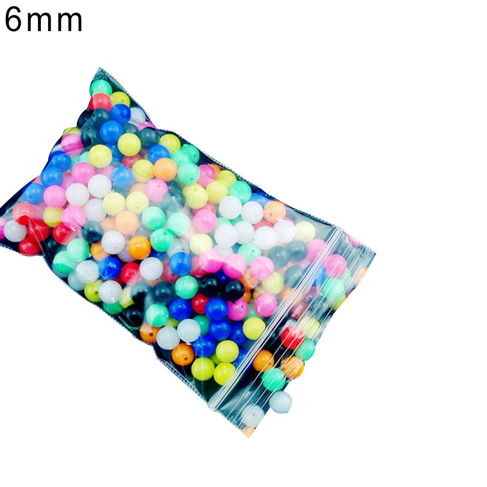 100Pcs 8mm Round soft Glow Rig Beads Sea Fishing Lure Floating Float Tackles