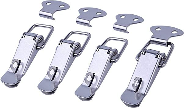 Euhuton 4 Pack Stainless Steel Spring Loaded Toggle Latch Catch Clamp Clips For Case Box 2 Patterns Sliver Amazon Co Uk Diy Tools