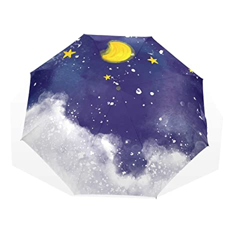 ac0ca3375119 Amazon.com: Mr.Lucien Watercolor Night Scenery Moon Starry Sky Cloud ...