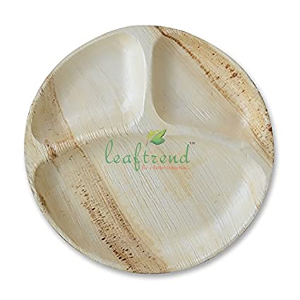 Leaftrend Ecofriendly disposable palm leaf plates wedding and party plates -12 inch Round 3  sc 1 st  Amazon.com & Amazon.com: Leaftrend Ecofriendly disposable palm leaf plates ...