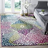 Safavieh Water Color Collection WTC672F Ivory and Fuchsia Area Rug, 2'7″ x 5′ Review