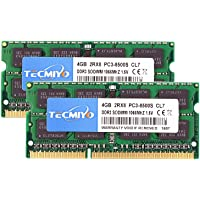 TECMIYO 8GB Kit (2x4GB) DDR3 Laptop Ram DDR3 1066 PC3-8500 Non ECC Unbuffered 1.5V CL7 2RX8 Dual Rank 204-Pin Computer…