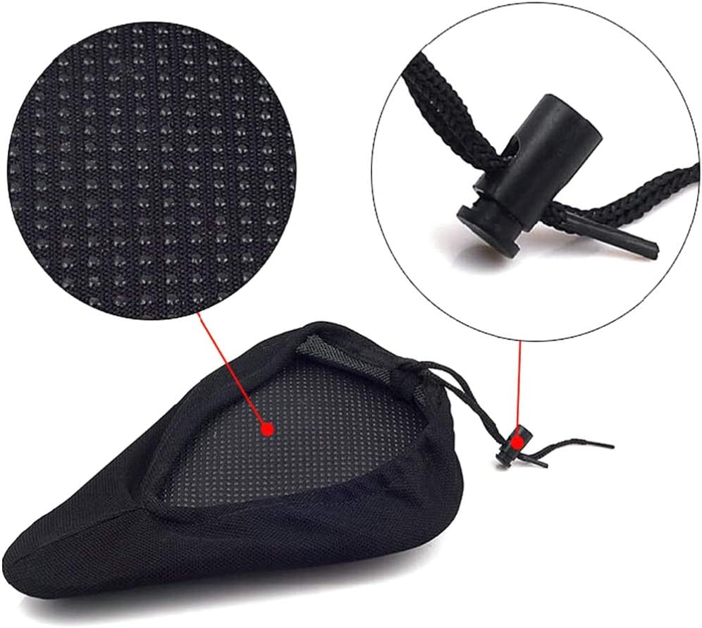 BESPORTBLE Bike Seat Cushion Soft Replacement Bicycle Saddle for Adult Kids Mountain Bikes Road Bicycle Black