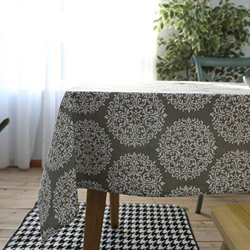Bringsine Cotton Linen Fashion Baroque Style Printed Washabl