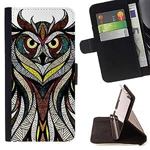 Jordan Colourful Shop -Owl Aztec Pattern -- Leather Case Absorciš®n cubierta de la caja de alto impacto FOR LG G3 LG-F400 D802 D855 D857 D858 ---