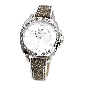 2c877ac7f90 COACH Women s Boyfriend 36mm Leather Watch Silver Signature Khaki 2 Watch