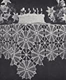 Vintage Crochet PATTERN to make - Spider Web Spiderweb Design Doily Motif Block Tablecloth. NOT a finished item. This is a pattern and/or instructions to make the item only.
