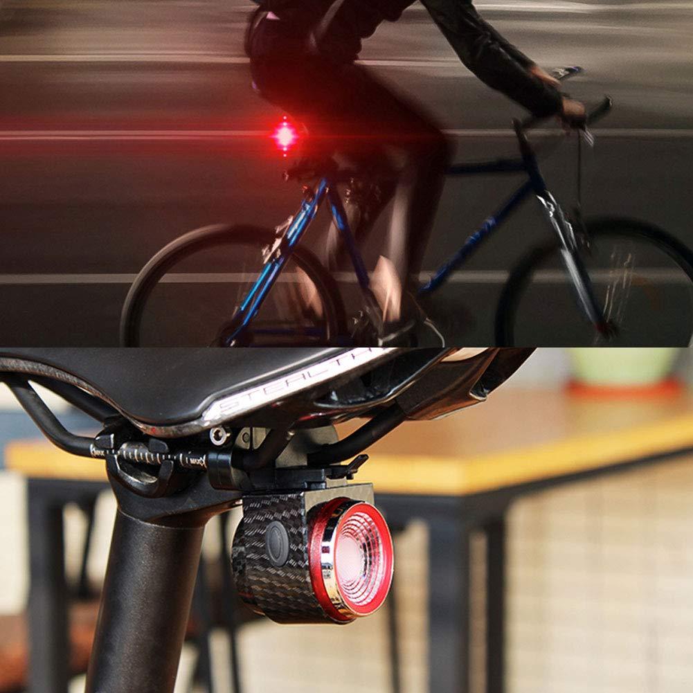 Luce antifurto Accessorio Professionale Ricaricabile Tramite USB kaakaeu Allarme di Sicurezza Intelligente per Ciclismo Notturno Fanale Posteriore Impermeabile IP6