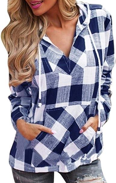 Moda Mujer Pullover Camiseta Sudadera Esencial con Capucha ...