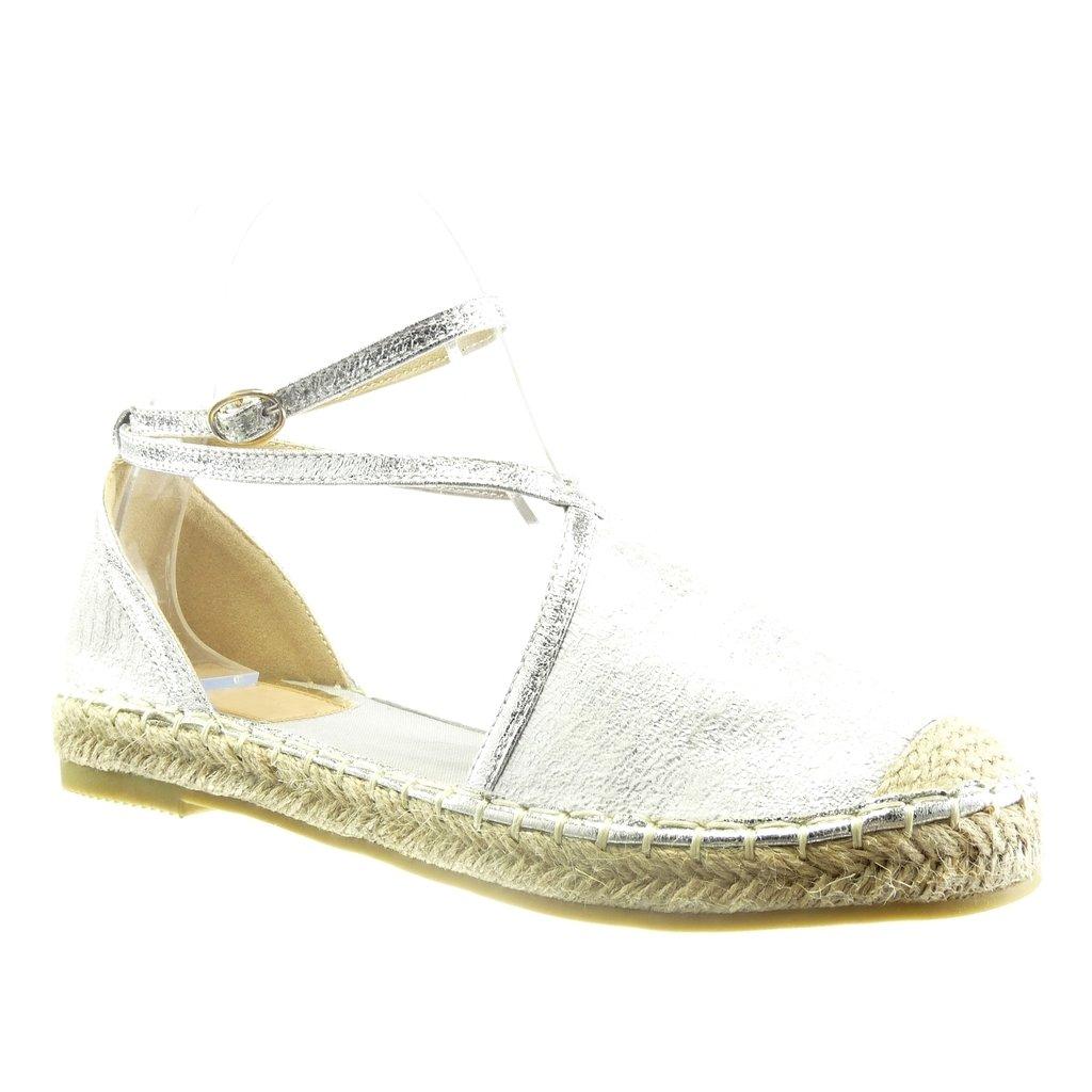 Angkorly Women's Fashion Shoes Espadrilles Sandals - Open - Snakeskin - Multi  Straps - Cord Block Heel 2 cm: Amazon.co.uk: Shoes & Bags