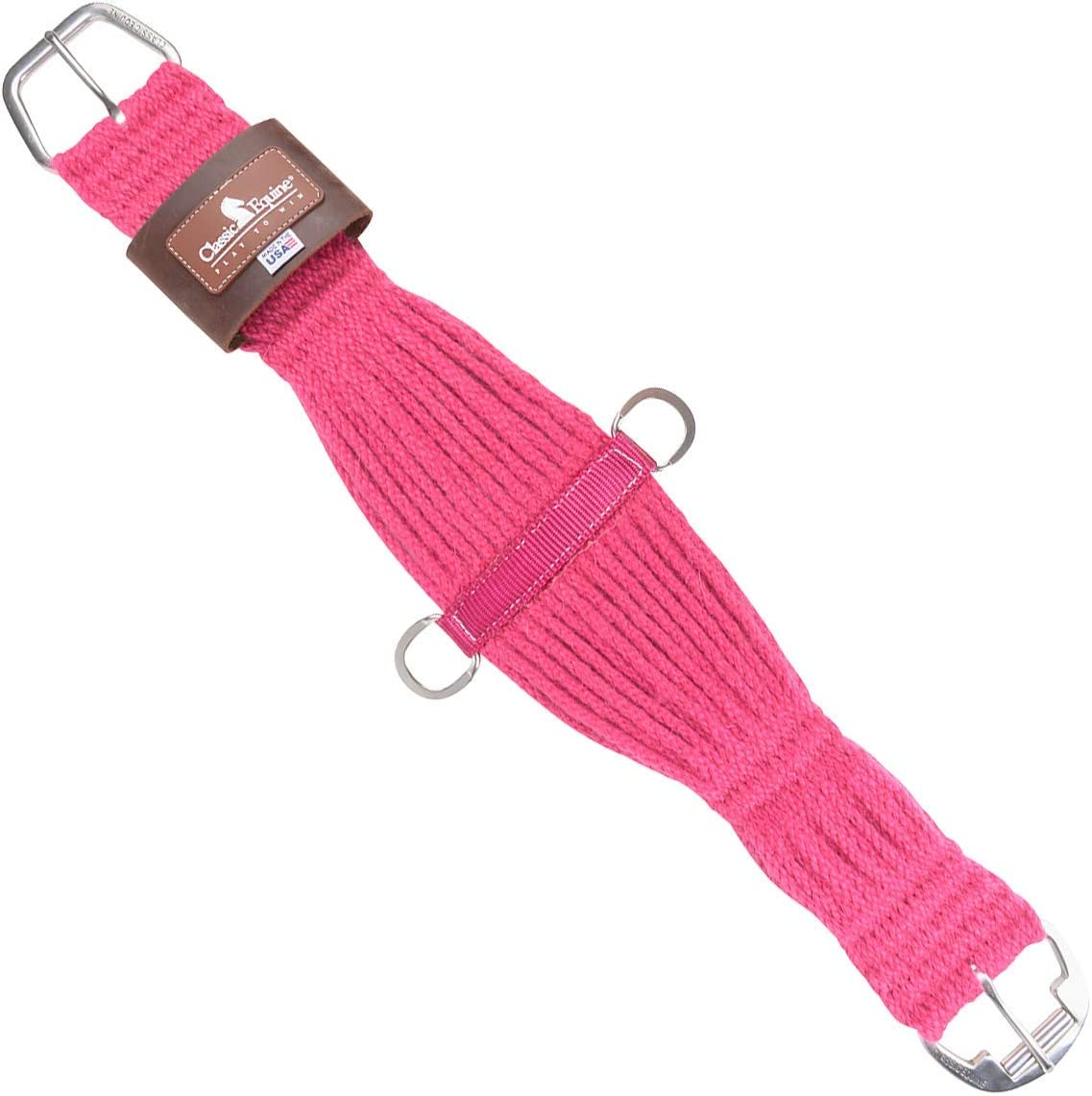 Classic Equine Horse 100/% Mohair Roper Cinch Roller Buckle Soft 27 Strand Pink