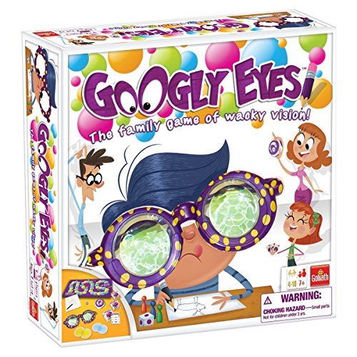 Guess Where Board Game (Googly Eyes Game — Family Drawing Game with Crazy, Vision-Altering Glasses)
