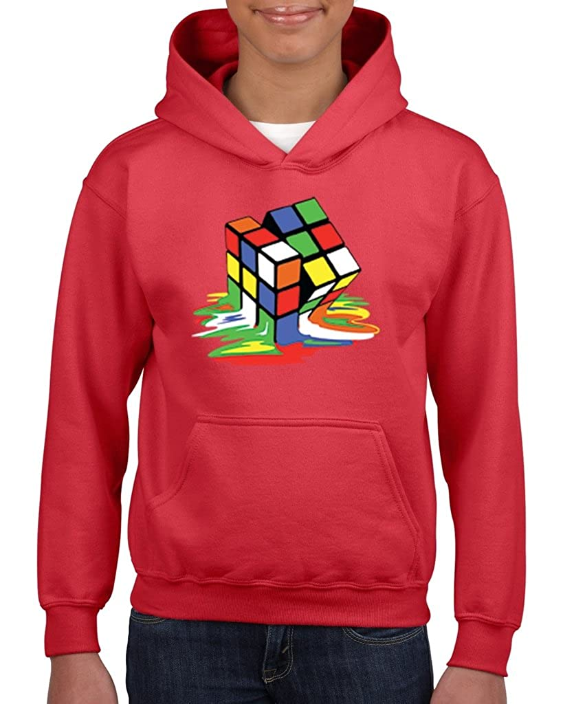 Artix Melting Rubik`s Cube Unisex Hoodie For Girls and Boys Youth Sweatshirt