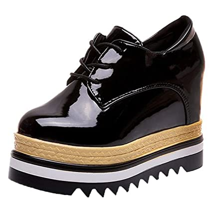 2fcba8a732c7 Amazon.com: GTVERNH Women's Shoes/Muffin Shoes Thick Sole 9Cm High ...