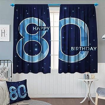 Amazon.com: Anhounine – Cortina opaca para 80 cumpleaños ...