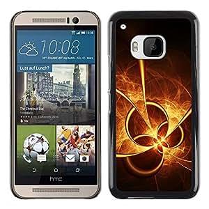 Be Good Phone Accessory // Dura Cáscara cubierta Protectora Caso Carcasa Funda de Protección para HTC One M9 // Sun Fire Abstract Shapes