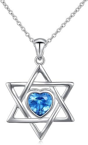 Blue Cz Heart Pendant .925 Sterling Silver