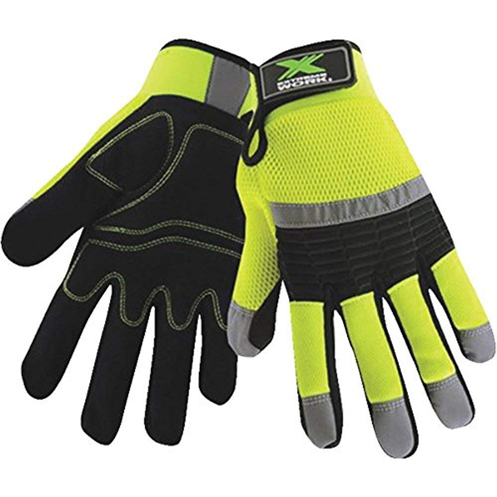 Westchester 87530-M Protective Gear Extreme Work High Visibility Work Gloves West Chester