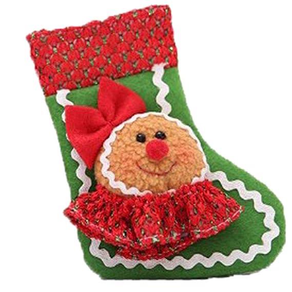 Weimay 1 UNIDS Decoraciones de Navidad de Calcetines de Caramelo Tela no tejida Santa Muñeco de