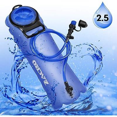 Zacro TPU Bolsa de Hidratación 2.5L, Mochila Hidratación Portátil sin BPA, Bolsa de Agua con Sistema de Auto-Bloqueo y Apertura Grande, para Ciclismo, Senderismo, Carrera, Escalada, Camping