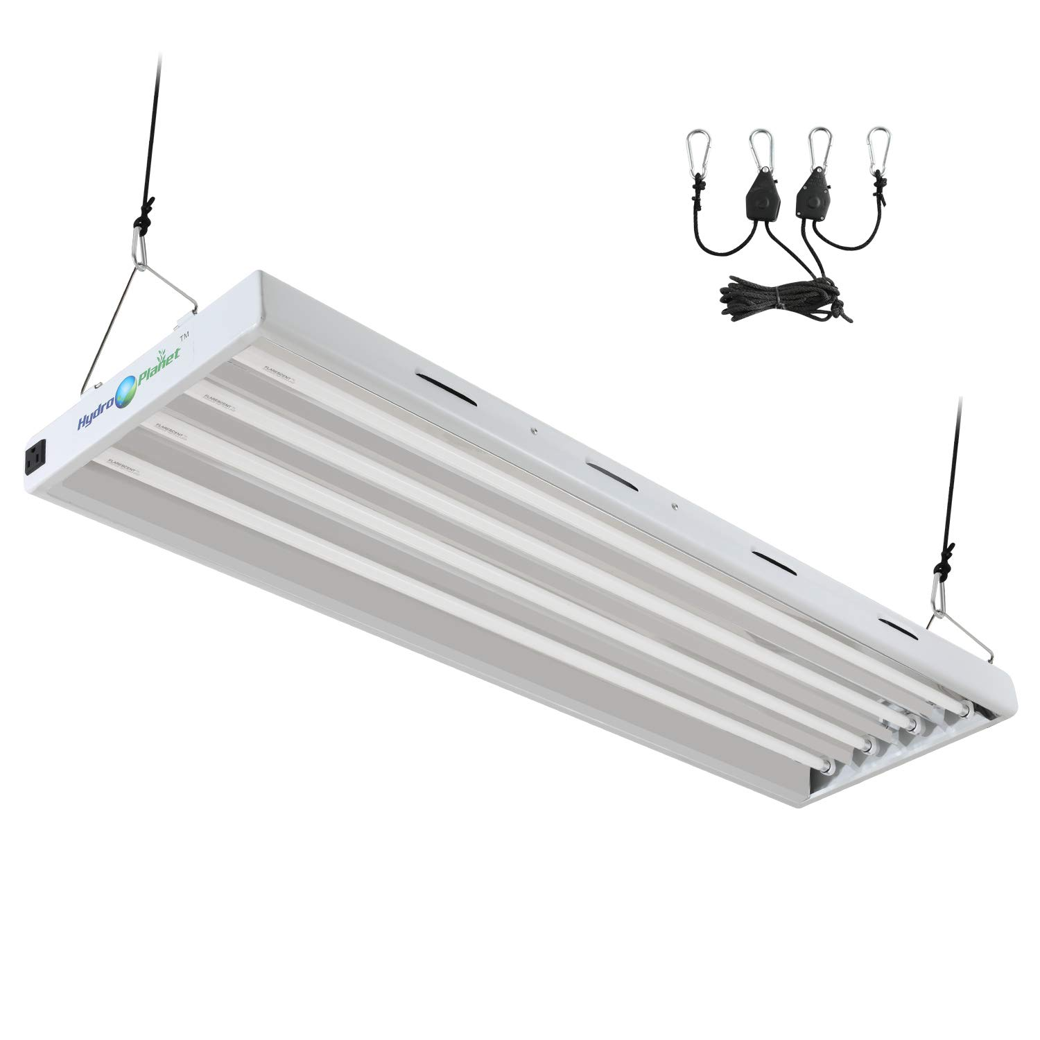 Hydroplanet T5 4ft 4lamp Fluorescent HO Bulbs Included for Indoor Horticulture Gardening T5 Grow Lights Fixtures (4 Lamp, 4ft) by Hydroplanet