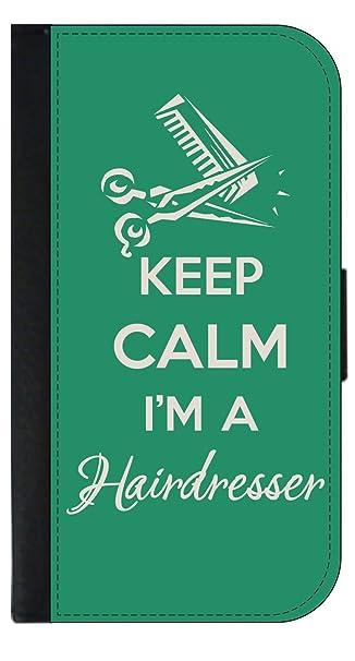Amazon Keep Calm Im A Hairdresser Wallet Style Phone Case