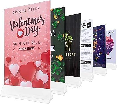 Amazon.com: Soporte para carteles de acrílico de 3.3 x 4.3 ...