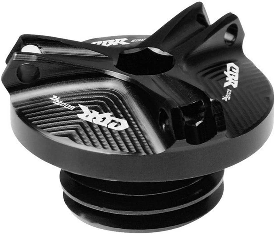 Relleno Cubierta Fuel Oil M20 Moto magn/ética Racing Motor tap/ón for Honda CBR 600 RR CBR 600RR CBR600RR 2003 2004 2005 2006 2007 Color : Black