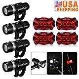 Best unknown Led Bike Lights - 4 x Waterproof Lamp Bike Bicycle Front 5 Review