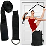 Leg Stretcher Strap, Door Stretch Strap for Flexibility, Adjustable Strap with Door Anchor to Improve Leg Stretching…