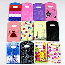 """100 Pcs Plastic Glossy Merchandise Bags Shopping Bags,Retail Shopping Bag Clothes bag with Handles,Purple and Pink,9.8"""" X 13.5"""""""