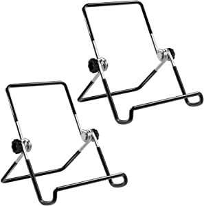 """MoKo Foldable Tablet Stand, 2 Pack Adjustable Metal Holder for 9-12.9"""" Tablet, Compatible with iPad 10.2"""" 2019, New iPad Air 3rd Gen iPad Pro 10.5/9.7 iPad Pro 11 2020/12.9, Galaxy Tab E 9.6"""" - Black"""