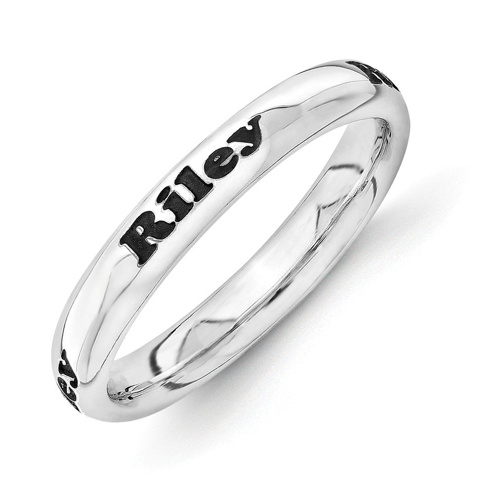 Sterling Silver Stackable Expressions Personalized Ring One Size