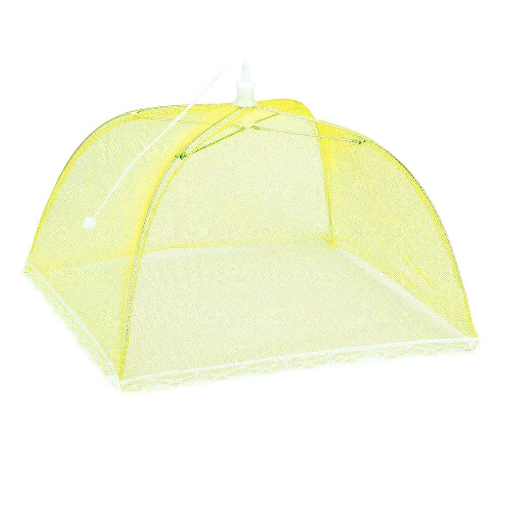 Weite Large Pop-Up Mesh Food Cover Tent Umbrella, Reusable Outdoor Picnic Food Covers, Collapsible Food Cover Net Keep Out Flies, Bugs, Mosquitoes (Multicolor) by Weite (Image #3)