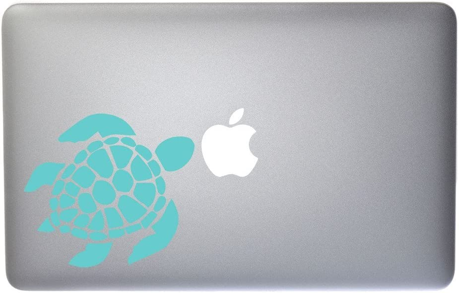 Lovable Sea Turtle Vinyl Decal for MacBook, Laptop or Other Device 5 Inch (Mint)