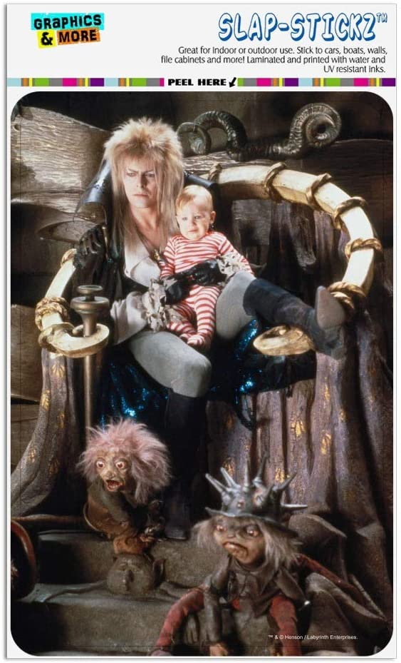 GRAPHICS & MORE Labyrinth Goblin King On Throne with Baby David Bowie Jareth Toby Home Business Office Sign