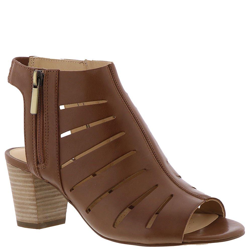 CLARKS Women's deloria IVY Heeled Sandal, Tan Leather, 8.5 Medium US