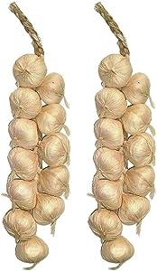 SpeedDa 2Pack Kitchen Garden Indoor Decor Artificial Garlic Strings