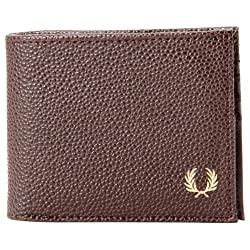 Fred Perry Men's Scotch Grain Billfold Wallet