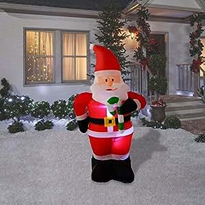 Amazon.com: 4 Foot Christmas Inflatables Airblown Santa ...