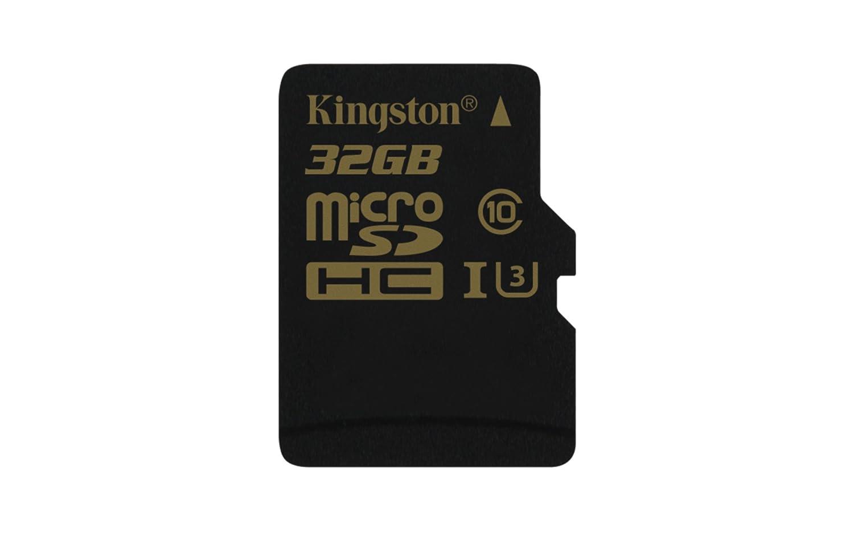 Kingston SDCG/32GBSP Gold Tarjeta de Memoria microSD de 32 GB con UHS-I Speed Class 3 (U3)