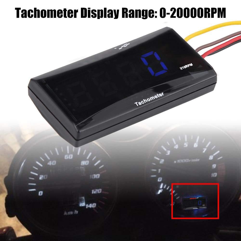 Blue backlight Tachimetro digitale LED per moto Tester RPM DC 8-18V per Kawasaki