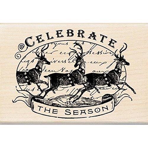 Inkadinkado Wood Stamp, Celebrate The Season EKS 60-00944