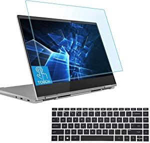 Anti Blue Light Anti Glare Screen Protector Fit 14 HP Pavilion X360 (14-baXXX 14m-baXXX) HP 14-BA Series with Keyboard Cover, Eyes Protection Filter Block UV and Reduce Fingerprint