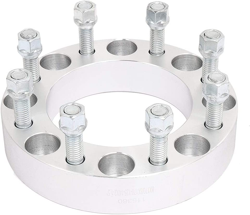 cciyu 1.5 4PCS Wheel Spacers 8 lug 8x170mm to 8x170mm 14x2 Studs//Nuts 125mm CB fit for Ford Excursion F250 F350 Truck