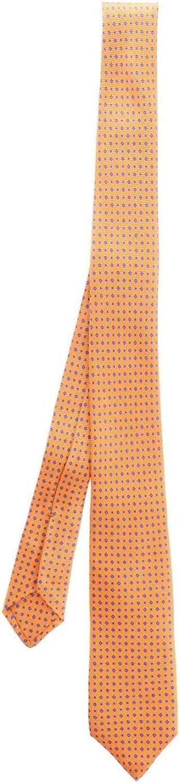 Kiton Mens Cravatta9 Orange Silk Tie