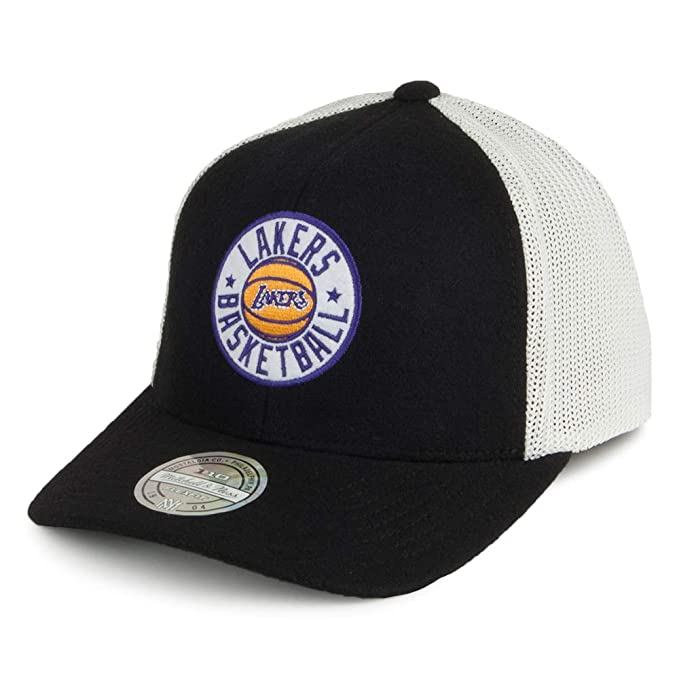 Mitchell & Ness Gorra Trucker HWC Patch 110 L.A. Lakers Negro - Ajustable: Amazon.es: Ropa y accesorios