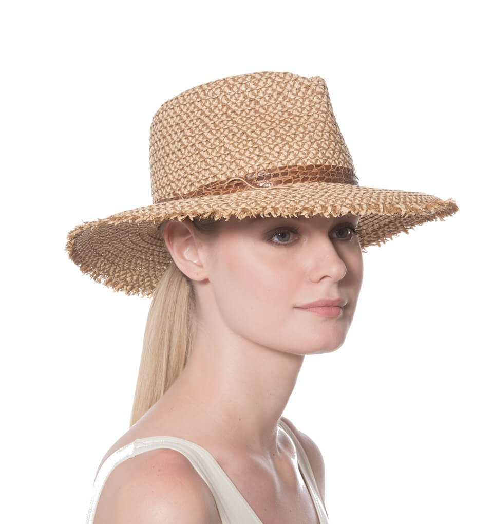 Eric Javits Fashion Designer Women's Headwear Hat - Squishee Feliz - Peanut