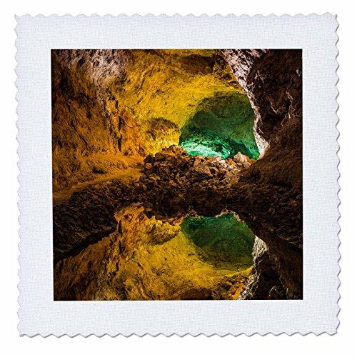 3dRose Danita Delimont - Caves - Spain, Canary Islands, Lanzarote, Haria, Cueva de los Verdes. - 22x22 inch quilt square (qs_257890_9) by 3dRose