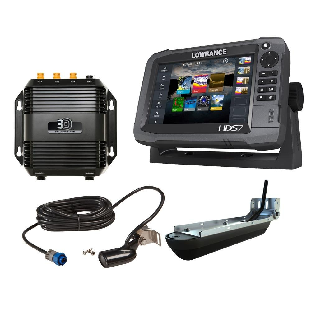 Lowrance 000-12914-001 HDS-7 Gen3 Med/High CHIRP w/ Insight Mapping & SS3D Transducer by Lowrance